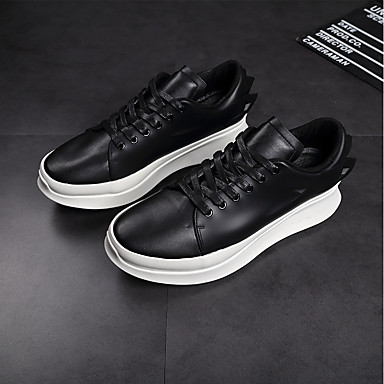 Men's Leather / Fall Comfort Sneakers White / Leather Black 3598f4