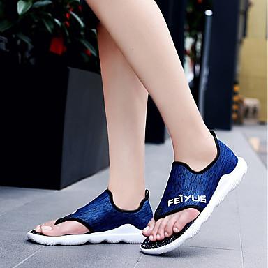 Men's Fabric Blue Summer Comfort Sandals Gray / Red / Blue Fabric 2f05c6