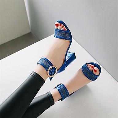 amp; Blanc Bout Sandales Talon Boucle Bleu ouvert Similicuir Soirée Evénement D'Orsay amp; Deux Noir 06697556 Bottier Pièces Femme Chaussures Eté x0vwq8TvO