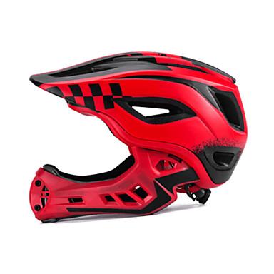 ROCKBROS Pentru copii biciclete Casca / BMX Casca 12 Găuri de Ventilaţie Vizor detașabil ESP+PC Sport Ciclism / Bicicletă - Negru / Alb / Negru / Roșu / Verde / Negru