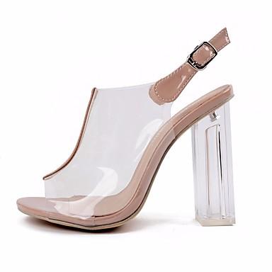 Bottier 06654048 Automne Printemps Basique Femme Chaussures Talon Escarpin Cuir Sandales Confort Amande PVC vI7Rp