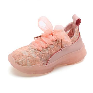 Fete Pantofi Piele Originală Primavara vara Confortabili Adidași Cataramă pentru Galben / Albastru / Roz