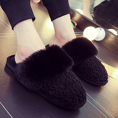 cheap Slippers-Women's Slippers Slide Slippers Ordinary / Casual Fleece solid color Shoes