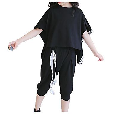 Copii Fete Activ / De Bază Ieșire Mată Imprimeu Manșon scurt Bumbac Set Îmbrăcăminte