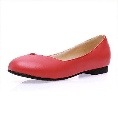 Rouge Plat Femme Confort 06675909 Printemps été Beige rond Similicuir Noir Bout Chaussures Ballerines Talon qqa7gZ