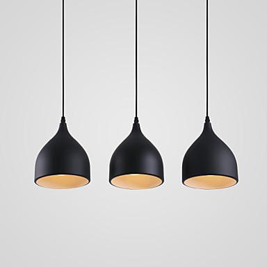 3-luz Racimo Lámparas Colgantes Luz Downlight Acabados Pintados Metal Los diseñadores 110-120V / 220-240V Bombilla no incluida / E26 / E27