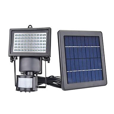 billige Utendørsbelysning-1pc 5 W Wall Light / LED-lyskastere / plen Lights Vanntett / Solar / Infrarød sensor Hvit 7 V Utendørsbelysning / Courtyard / Have 60 LED perler / Mulighet for demping