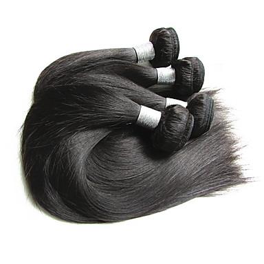 Włosy brazylijskie / Zestawy Prosto Włosy virgin / Włosy remy Przedłużenia z naturalnych włosów 4 zestawy Ludzkie włosy wyplata New