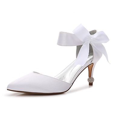 1067d279f38 Women s Shoes Satin Spring Comfort   D Orsay   Two-Piece   Basic Pump  Wedding Shoes Cone Heel Pointed Toe Bowknot   Satin Flower Blue