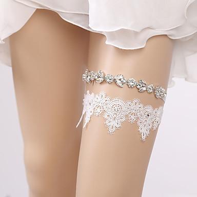 Dantelă Stil Vintage Nunta Garter Cu Piatră Semiprețioasă / Găuri Jartiere Nuntă / Party & Seară