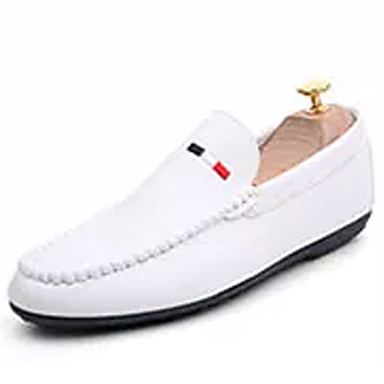 Men's White Moccasin PU(Polyurethane) Fall Loafers & Slip-Ons White Men's / Black / Red 0a8cef