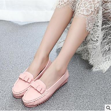 2e9314564ef Γυναικεία Παπούτσια PU Καλοκαίρι Ανατομικό Μοκασίνια & Ευκολόφορετα Επίπεδο  Τακούνι Λευκό / Μαύρο / Ροζ