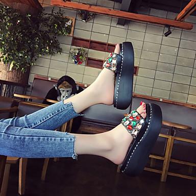 flops Tacón Zapatos Confort Verano Zapatillas Plano Mujer y 06671829 flip Negro PU Plata 08wqWB