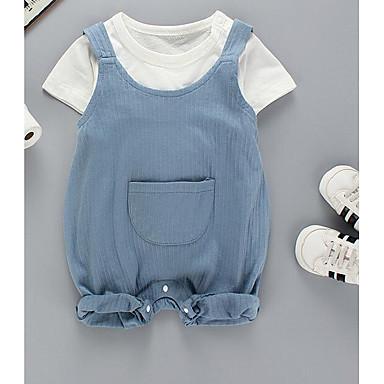 Bebelus Băieți Șic Stradă Mată Manșon scurt Set Îmbrăcăminte