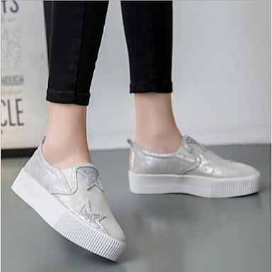 Chaussures Rose Printemps Talon Femme et 06668625 Plat Chaussons Cuir Noir Mocassins Argent D6148 Confort dSSwRx7