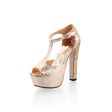 Argent Chaussures Femme Or Bout Confort Sandales Talon Bottier Eté 06682393 ouvert Similicuir OOxvqFr