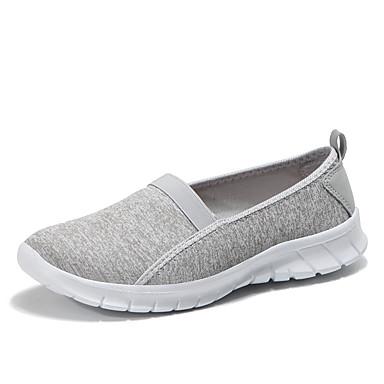 0a5920ce Mujer Zapatos Punto / PU microfibra sintético Verano Confort Zapatos de  taco bajo y Slip-On Paseo Tacón Plano Dedo redondo Gris claro /