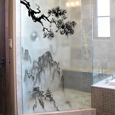 Folie okienne i naklejki Dekoracja Prosty Prosty PVC Naklejka okienna / Matowy / a / Water-Repellent
