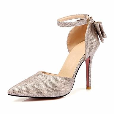 Or Automne Chaussures Escarpin Aiguille 06684553 Noir Chaussures Polyuréthane Argent Femme Talon à Confort Basique Talons ZqnggxS