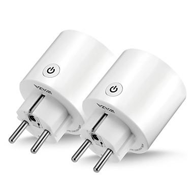 رخيصةأون المنزل الذكي-waza smart plug (eu) mini outlet متوافق مع amazon alexa و google assistant، wifi enabled remote control socket with timer function، no hub required (2-pack)