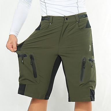 61d979af6 Arsuxeo Men s Cycling Shorts - Dark Gray   Royal Blue   Dark Green Bike  Shorts MTB