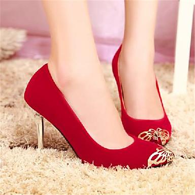 à Bout 06770499 Talons amp; pointu Noir Escarpin Rouge Chaussures Evénement Printemps Femme été Soirée Chaussures Basique Aiguille Talon Polyuréthane wUWq80P