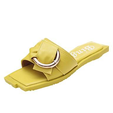 Women's Shoes Knit / PU(Polyurethane) Summer Novelty / Slingback / Sandals Flat Heel Black / Slingback Light Yellow / Pink / White / Wedding 4811dd