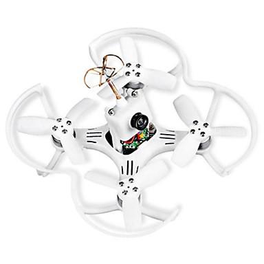billige Fjernstyrte quadcoptere og multirotorer-RC Drone EMAX EMAX Babyhawk 87mm 2s 300mah 35c Battery Frsky Receiver Mirco Brushless FPV Racer BNF BNF 6 Akse 5.8G Med HD-kamera 500tvl Fjernstyrt quadkopter FPV Fjernstyrt Quadkopter / Kamera
