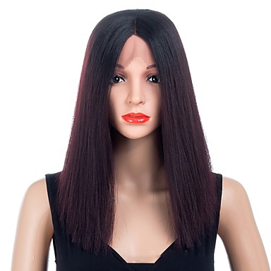 Synthetic Wig   Synthetic Lace Front Wig Straight Black Middle Part Natural  Black Dark Wine Synthetic Hair Women s Synthetic   Best Quality   New  Arrival ... 19f11f0d9f