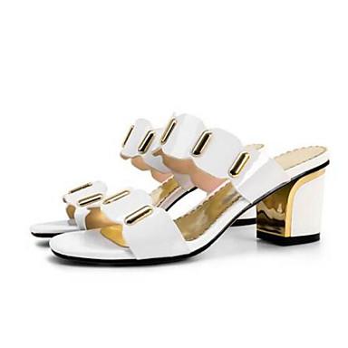 Chaussures 06771200 Femme Blanc Cuir Noir Nappa Bottier Talon Eté Confort Sandales C1dp1nx