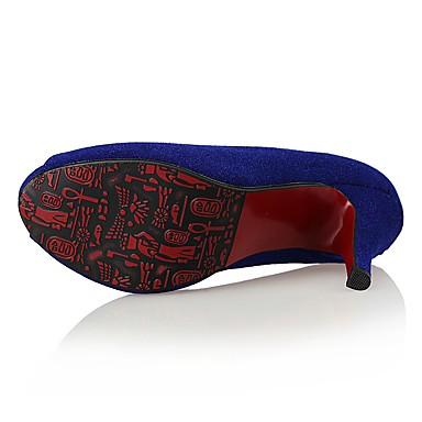 Mariage Talons amp; été ouvert Printemps Bout Escarpin Talon Chaussures Soirée Chaussures Aiguille à Daim Basique Bleu 06764899 Evénement Noir Femme fqTZ8wB