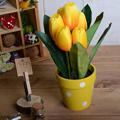 Flori artificiale 1 ramură Clasic Rustic Lalele Față de masă flori