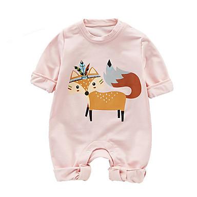 Bebelus Unisex De Bază Imprimeu Manșon Lung Bumbac Salopetă Trifoi / Copil