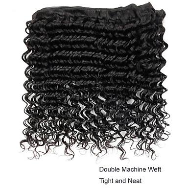 baratos Extensões de Cabelo Natural-3 pacotes Cabelo Vietnamita Encaracolado 8A Cabelo Humano Extensor 8-28 polegada Preta Côr Natural Tramas de cabelo humano Tecido Venda imperdível Para Mulheres Negras Extensões de cabelo humano