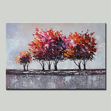 Hang-pictate pictură în ulei Pictat manual - Peisaj / Floral / Botanic Modern pânză