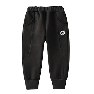 Copii Băieți De Bază Zilnic Mată Peteci Bumbac Pantaloni Negru