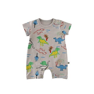 Bebelus Unisex De Bază Floral Mânecă scurtă Bumbac O - piesă / Copil
