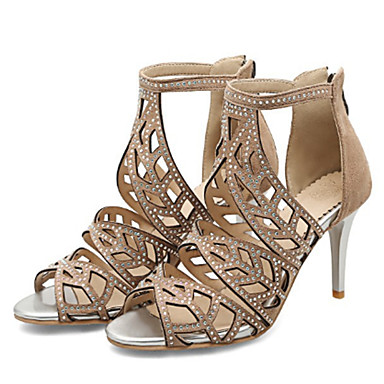Bout Beige Femme Véronèse Chaussures Basique Daim Vert Escarpin ouvert 06735930 Talon Printemps Paillette Sandales Noir Brillante été Aiguille xz6wUx