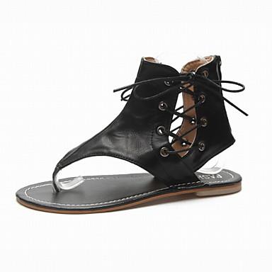 Pentru femei Pantofi Imitație Piele Vară Pantof cu Berete Sandale Toc Drept Negru / Cafea / Maro