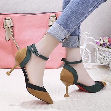 Tacones Verano Tacón Beige Mujer Dedo 06737938 Kitten y Pump Fiesta Noche Básico Zapatos Primavera PU Amarillo Puntiagudo 1wwtSqTY