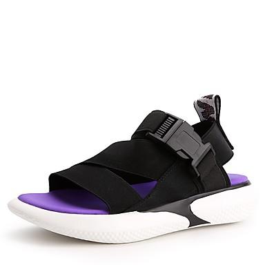 Eté Chaussures Noir Tissu Talon Rose Femme 06734473 Argent Confort Plat Sandales élastique Utad48qx