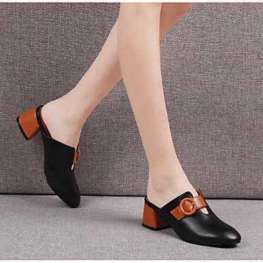 Nappa Eté Confort Cuir Femme 06764264 Beige Chaussures fermé Bottier Bout Noir Sandales Talon EBqp1Sxpwf