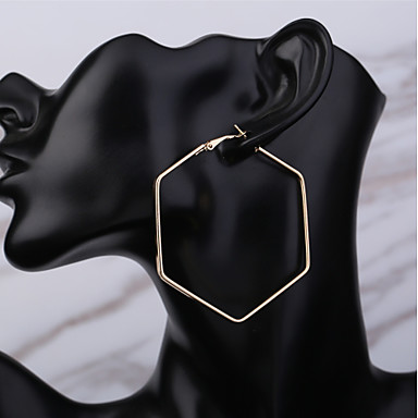 Women's Hoop Earrings Star Classic Basic Earrings Jewelry Gold For Daily Holiday