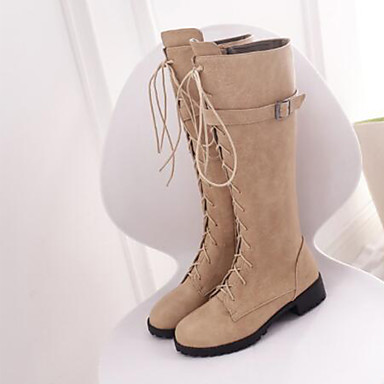 Bout la Bottes Bottes 06754935 Cavalières hiver Noir Block Chaussures Automne Boucle Mode Bottes Bottes Blanc Heel rond à Daim Kaki Femme Rv8qOSW