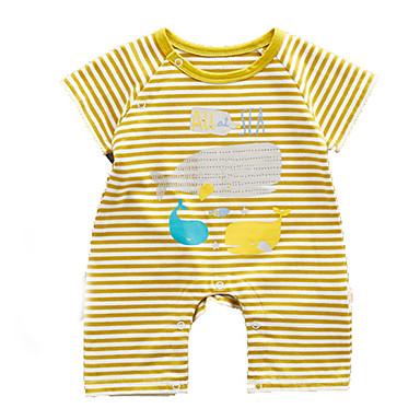 Bebelus Unisex De Bază Dungi Mânecă scurtă O - piesă / Copil