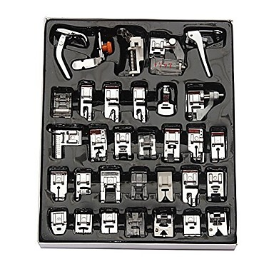 cheap Tool Sets-32Pcs Sewing Machine Presser Foot Set For Janome Brother Singer Domestic Part
