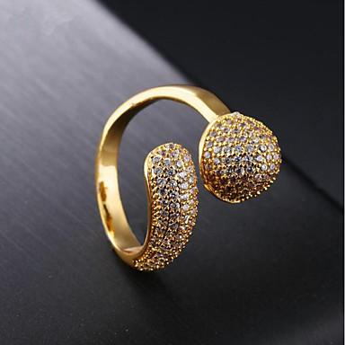 1 buc May Polly Cool Auriu / Pentru femei / Zirconiu Cubic / Αστέρι / Band Ring / 18K Aur
