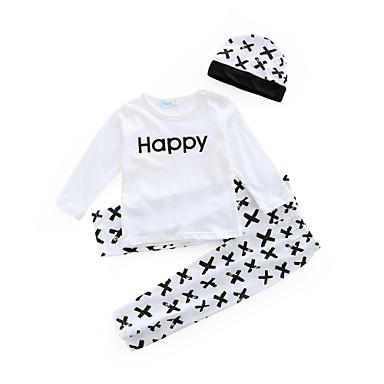 Bebelus Băieți Casual Zilnic Imprimeu Manșon Lung Regular Bumbac Set Îmbrăcăminte Alb 100 / Copil