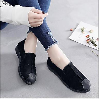 Dedo Primavera taco Zapatos On redondo Zapatos de Mujer Slip Confort Verde y Ante 06753750 Tacón Plano verano bajo Fucsia Rojo 6S00fq