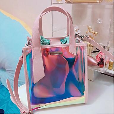 Pentru femei Genți PVC Seturi de sac Set de pungi pentru 2 buc Buton Albastru piscină / Roz Îmbujorat